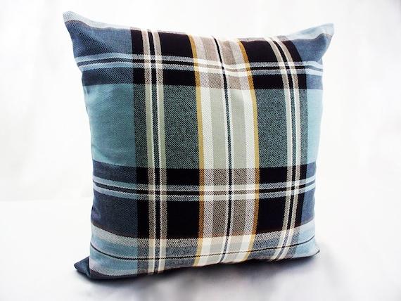 Plaid throw pillows P Kaufmann