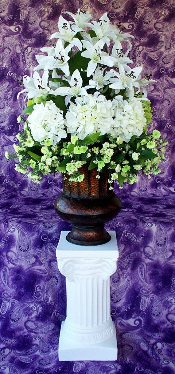 Silk Wedding Church Altar Flowers Arrangement Decorations Etsy