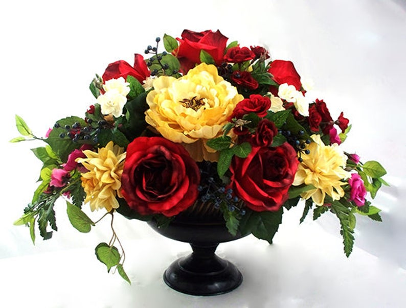 Dining Room Table Centerpieces Silk Flowers Wedding
