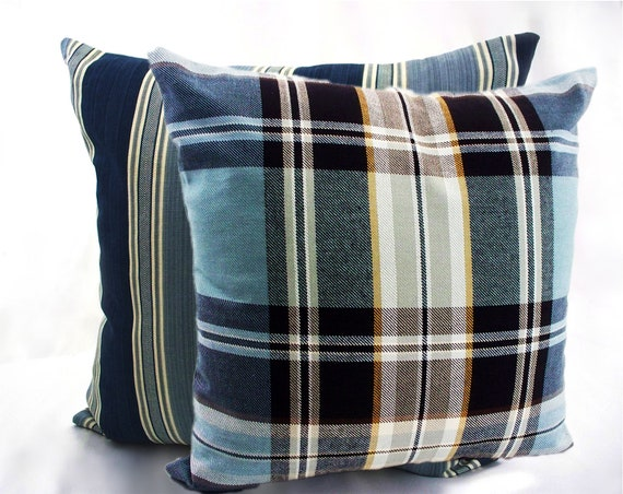Awesome Checkered Plaid Striped Pillows Covers Decorative Throw Pillows Cushions Accent Decor White Navy Blue Pillows Sofa Furniture Couch Bed Ibusinesslaw Wood Chair Design Ideas Ibusinesslaworg