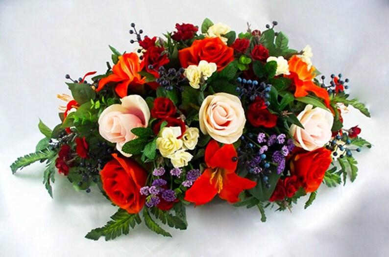 Merveilleux Fleurs De Table Soie Salle à Manger Des Pièces Maîtresses | Etsy