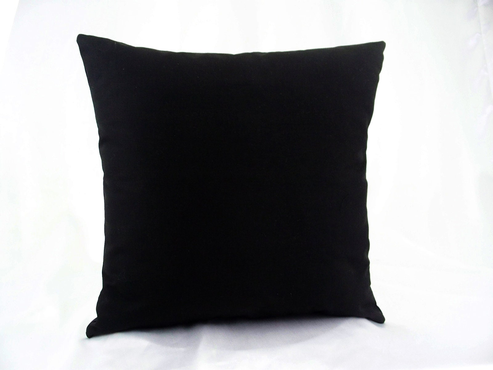 Black Throw Pillows Black Solid Pillow Solid Black Pillow Black Cushion Cover 16x16 18x18 20x20 Cushions Cover Pillow Cases Pillowcases
