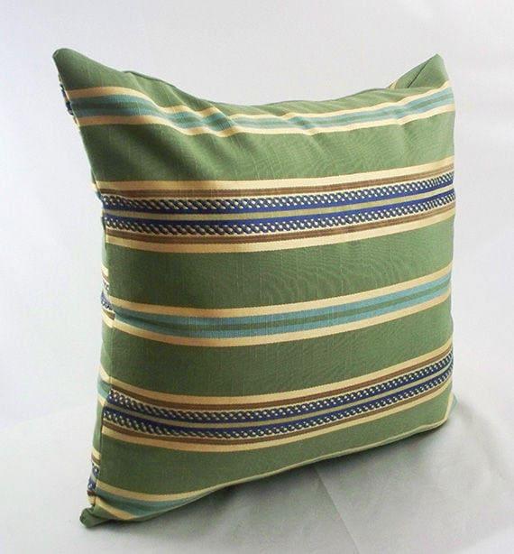 Enjoyable Striped Decorative Throw Pillows Sofa Blue Green Pillow Covers Couch Home Gold 16 18 Toss Pillowcases Shams Home Decor Living Room Inzonedesignstudio Interior Chair Design Inzonedesignstudiocom