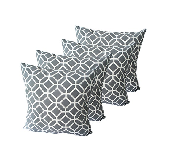 Outstanding Geometric Grey Pillow Set Grey Accent Pillows Package Outdoor Cushions Covers Throw Pillows Decorative Gray Couch 16 X 16 18 X 18 Camellatalisay Diy Chair Ideas Camellatalisaycom