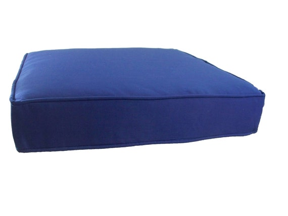 Swell Navy Blue Patio Chair Cushion Outdoor Chair Cushions Navy Blue Plain Solid Seat Furniture Set 18 20 22 24 Wicker Garden Deck Rattan Bench Cjindustries Chair Design For Home Cjindustriesco