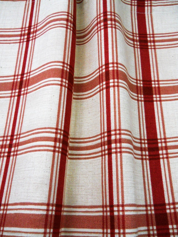Plaid red curtain panels ivory Waverly, Bedroom curtains, Window  treatments, Home decor bedroom living room custom drapery drapes coverings