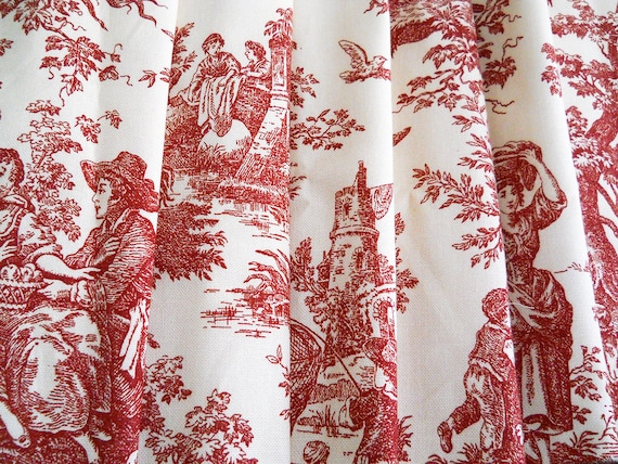 Drapery Panels Curtains Drapes Toile Curtains French Country Curtains Red Window Curtains Waverly Panels Red Curtains Bedroom