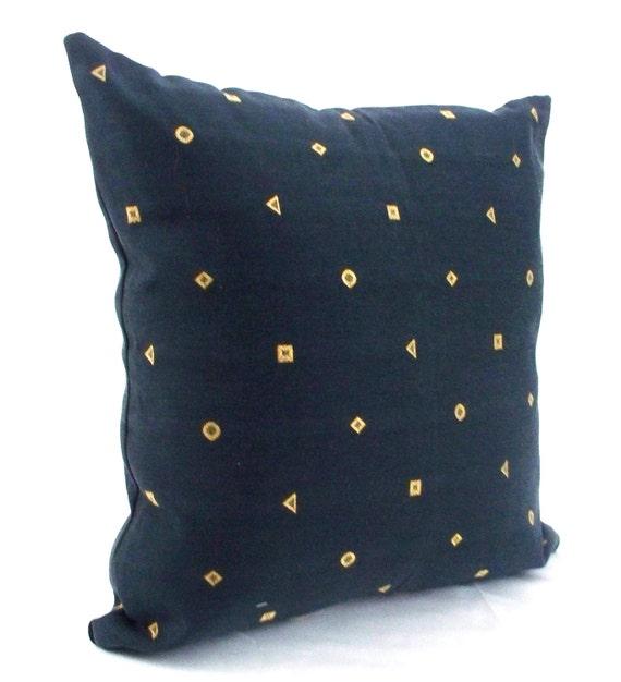 Navy pillow cover, Navy pillow, Blue Decorative throw pillows, Accent  pillows, Gold decorative pillows, Unique decorative sofa couch pillows