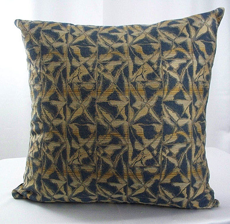 Amazing Blue And Gold Brown Pillows Throw Pillow Covers Pillowcases Cushion Decorative Sofa Pillows Couch Home Decor Pillows Beatyapartments Chair Design Images Beatyapartmentscom