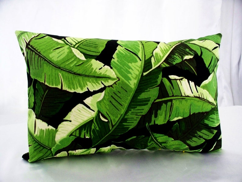 Solarium Balmore Noir Green And Black Pillow Covers Outdoor Etsy