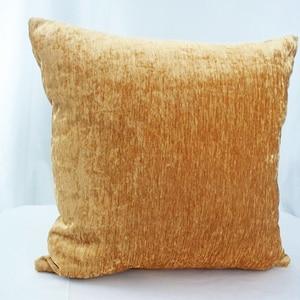 Gold velvet pillow set of 2 Solid