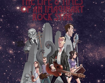 Imaginary Rock Star 2LP Story Album + 28 Page Comic narrated by Michael Jayston