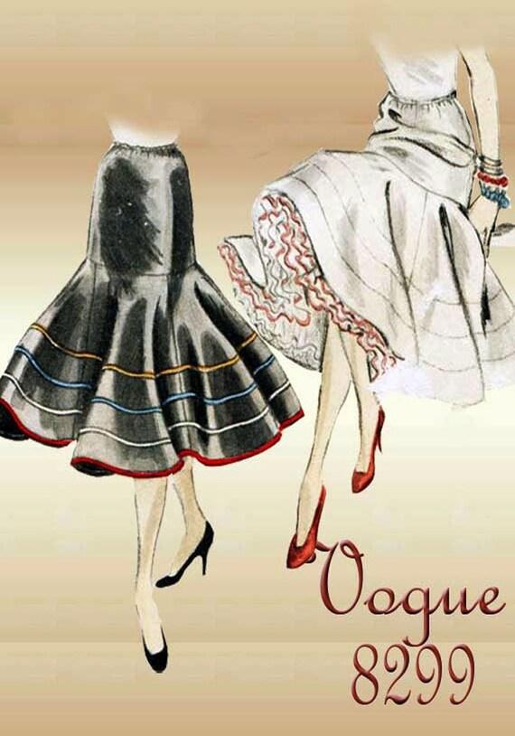 Rüschen Petticoat Muster der 1950er Jahre Vogue Rundschreiben   Etsy