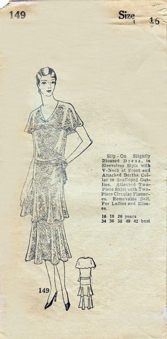 Vestido de Cóctel de la década de 1920 patrón de línea recta   Etsy