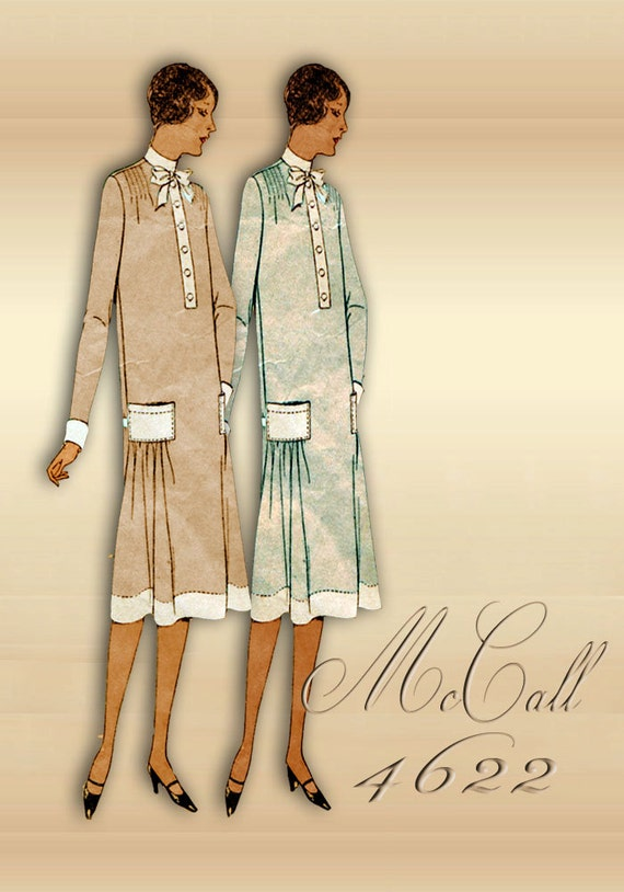 60s Dress Pattern Vintage McCall Printo Gravure Slip On Etsy Fascinating 1920s Dress Patterns
