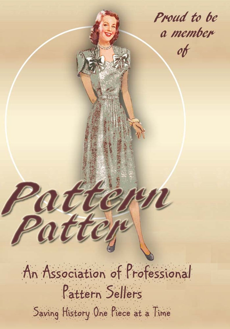 e1ed10c8a6cc9 1940s Maternity Dress Pattern Adjustable Waistline Expansion | Etsy