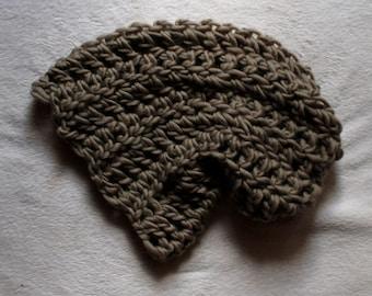 Soft Taupe Chunky Oversized Crochet Beanie