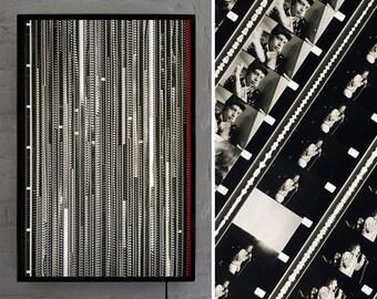 The Rolling Stones 1966 Promotional Film LIGHTBOX - Rare Vintage 16mm Film Collage - 30x20 Metal Light Box Led Lamp - Mini-Cinema Art