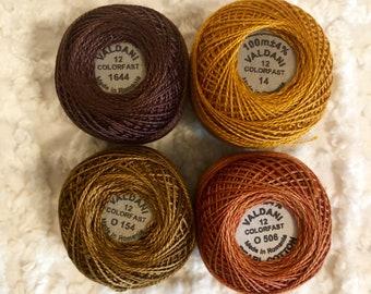 Valdani Pearl Cotton Thread beautiful browns/golds  #110