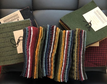 Primitive Gatherings Hand Dyed Wool Assorted Charm Pack 10 5-inch Squares