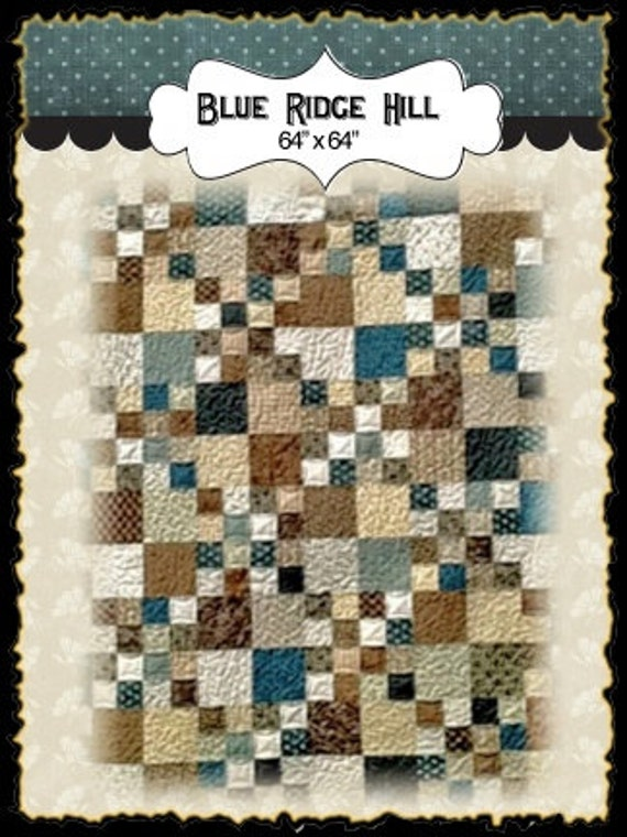 Blue Ridge Hill PDF quilt pattern
