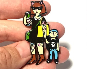New Weird Mother and Child Hard Enamel Pin