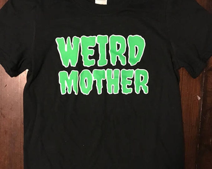 Weird Mother Lime Green and Plain Black shirt. XS