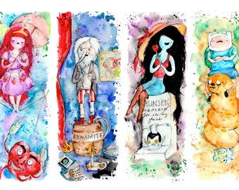 Adventure Time Stretching Portraits Haunted Mansion Mash up Print or poster, Disneyland Disney