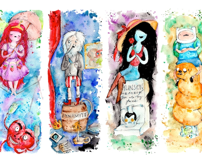 Adventure Time Stretching Portraits Haunted Mansion Mash up Print or poster, Disneyland Disney