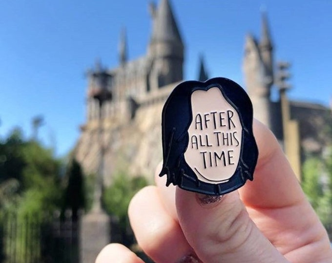 After All This Time Soft enamel pin from UK guest artist Bookish and Bakewell.