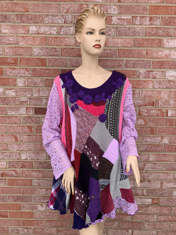 Artsy Textile Designer Knitwear 2x 3x Plus Size Fantasy Etsy