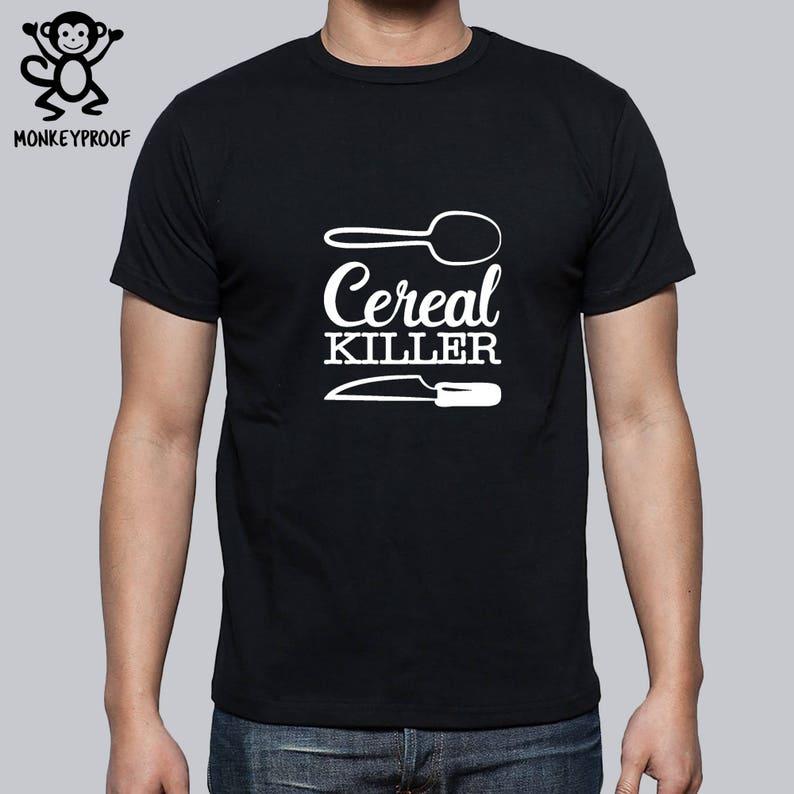 4c2cef5d9d34 Cereal Killer Spoon Knife Serial Killer Funny Tee Shirt   Etsy