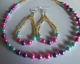 Cotton Candy necklace set