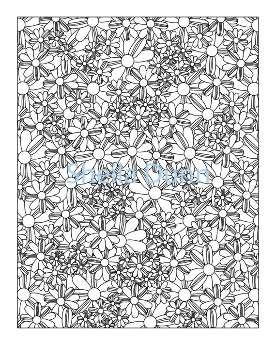 Funky Flower Coloring Pages for Adults