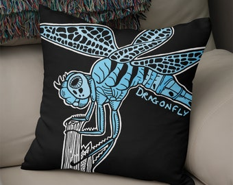 Dragonfly - Illustrated Insect Cushion