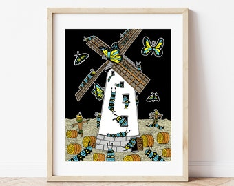 Attack of the caterpillars - Giclee Print (Unframed)