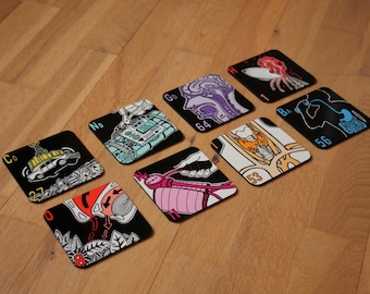 Set of Illustrated Periodic Table Drinks Coasters