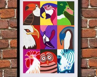 Birds - Giclee Print (Unframed)
