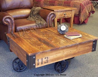Cart Coffee Table Etsy