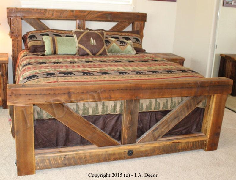 Rama Drewniana Z Drewna łóżko łóżko Małżeńskie Duże łóżko Drewniane łóżko Queen łóżko King Belka łóżko