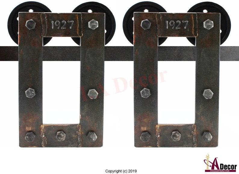 Industrial Barn Door Hardware   Rusted Barn Door Hardware   Rusty Barn Door  Hardware  Sliding Barn Door Hardware   Steampunk Decor
