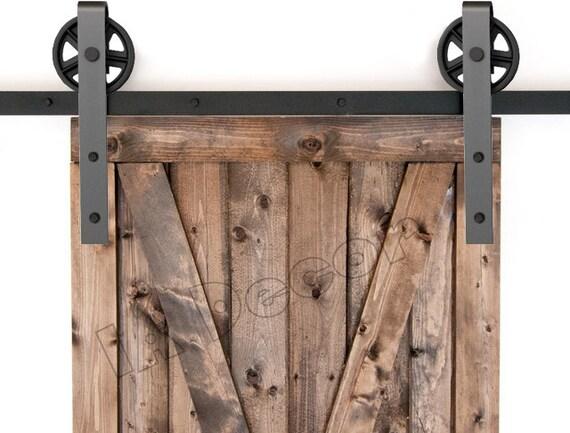 Barn Door Hardware Sliding Barn Door Hardware Spoked Barn Etsy