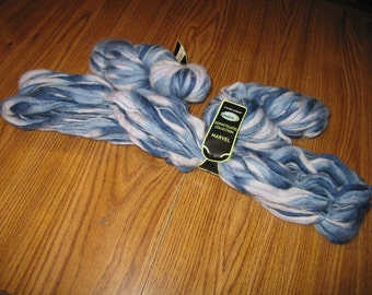 Wool Fiber - Blue Varigated
