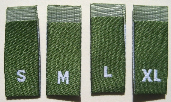SIZE TAGS TODDLER 2T 3T 4T 240 PCS WHITE WOVEN CLOTHING LABELS