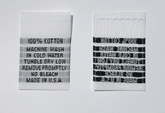 240 PCS WHITE WOVEN CLOTHING LABELS 4T 2T TODDLER SIZE TAGS 3T