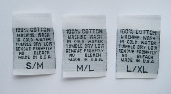 250 PCS WOVEN NON-FRAYING TODDLER CLOTHING SEWING LABELS SIZE TAGS  2T 3T 4T