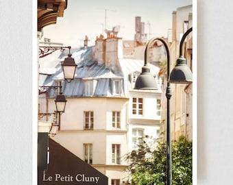 Paris print City art French Architecture print, Cityscape wall art white Parisian House facade 11x14 16x20 12x16
