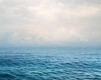 """Sea Print Extra Large Wall Art Water Beach prints, Blue Abstract Ocean Photography Print, Coastal Wall Art Large scale art Oversized 30"""""""