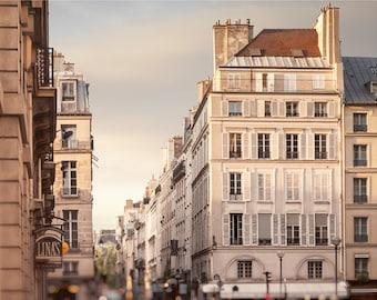 Paris print Architecture photo, Europe cityscape wall art Parisian Apartment decor Large Fine art print 16x20 24x30 poster