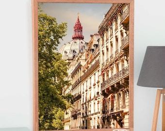 Paris Cityscape art Europe architecture prints, Extra Large wall art City art 24 x 36 30 x 40 French decor